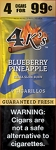 4 kings Cigarillos Blueberry Pineapple Pouch 4 for 0.99