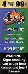 4 kings Cigarillos Kiwi Berry Pouch 4 for 0.99
