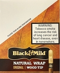 Black & Mild Natural Wrap Original Wood Tip Cigars