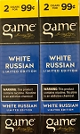 Game Foil Cigarillos White Russian 2 for $0.99