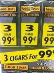 Good Times Cigarillos Green Sweet 30/3 Packs 3 for $0.99 Pre-Priced