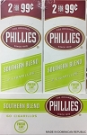 Phillies Cigarillos Southern Blend Foil Fresh 2 for 99