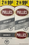 Phillies Cigarillos UnSweet Foil Fresh 2 for 99 (original)
