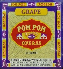Pom Pom Cigarillos Grape Box