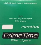 Prime Time Little Cigars Menthol 50Ct Box