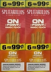 Splitarillos On Point Mango Peach Cigarillos Pouch 6 for 99