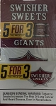 Swisher Sweets Giants 5for3 Pack