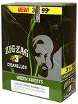 Zig Zag Cigarillos Green Sweet 3 for 99 Pre-Priced