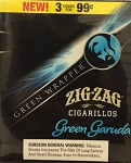 Zig Zag Cigarillos Green Garuda  15/3 $0.99 Pre-Priced