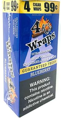 4 Kings Blueberry Wraps Pouch