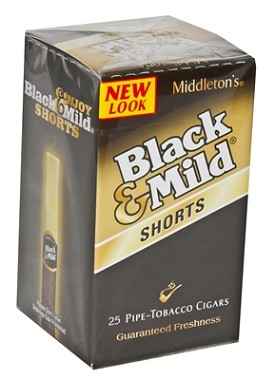 Black & Mild Cigars Shorts Original Box