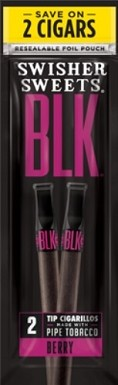 Swisher Sweets Tip BLK Berry Cigarillos 2 for $0.99