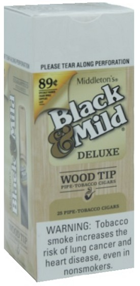 Black & Mild Deluxe Wood Tip Pre Price Cigars Box