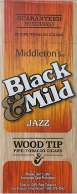 Black & Mild Wood Tip Jazz Cigars Box