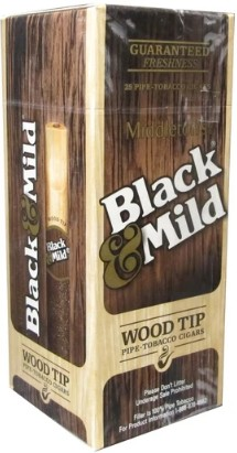 Black & Mild Wood Tip Box
