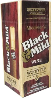 Black & Mild Wood Tip Wine Box
