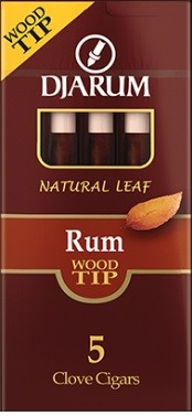 Djarum Clove Wood Tip Rum Cigars Pack