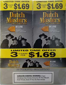 Dutch Masters Cigarillos Deluxe 3 for 1.69