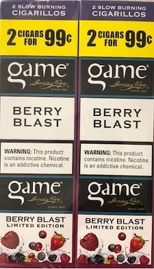 Game Foil Fresh Cigarillos Berry Blast 2 for $0.99