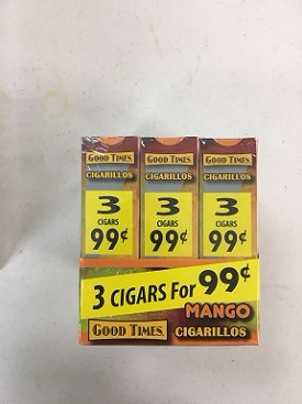 Good Times Cigarillos Mango 30/3 3 For $0.99
