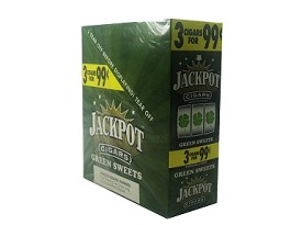Jackpot Cigarillos Green Sweet 15/3 3 for $0.99 Pre-Priced