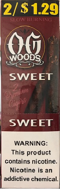OG Woods Leaf Sweet Cigars 2 for 1.29