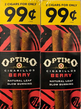 Optimo Foil Pouch Cigarillos Berry Prepriced