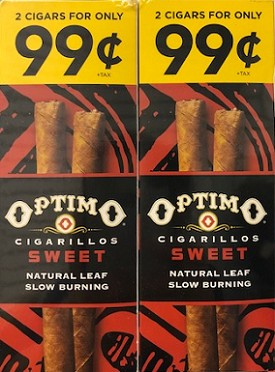 Optimo Foil Pouch Cigarillos Sweet Prepriced