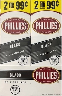 Phillies Cigarillos Black Foil Fresh 2 for 99