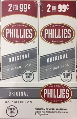 Phillies Cigarillos Original Foil Fresh 2 for 99
