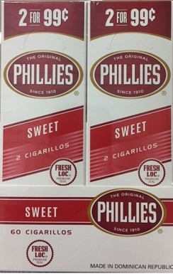 Phillies Cigarillos Sweet Foil Fresh 2 for 99