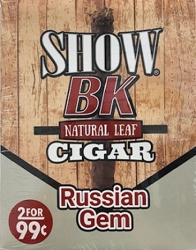 Show BK Natural Leaf Russian Gem Cigars 2 for 99
