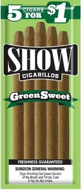Show Cigarillos Green Sweet 5 for 1