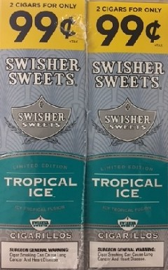 Swisher Sweets Cigarillos Foil Tropical Ice 2for99