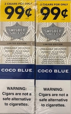 Swisher Sweets Cigarillos Foil Coco Blue Limited Edition