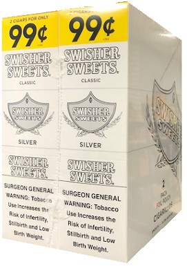 Swisher Sweets Cigarillos Foil Silver