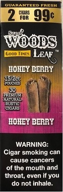Good Times Sweet Wood Leaf Honey Berry Cigars 2 for 99