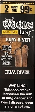 Good Times Sweet Wood Leaf Rum River Cigars 2 for 99