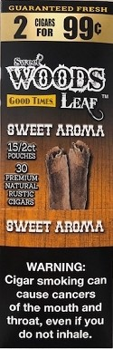 Good Times Sweet Wood Leaf Sweet Aroma Cigars 2 for 99