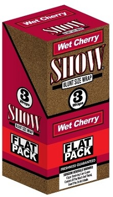 Show Blunt Size 3 Wraps Wet Cherry Flat Pack