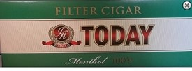 Today Menthol Filtered Cigars