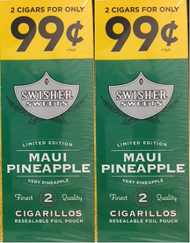 Swisher Sweets Cigarillos Foil Pack Maui Pineapple