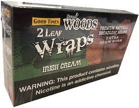 Good Times Sweet Wood 2 Leaf Wrap Irish Cream