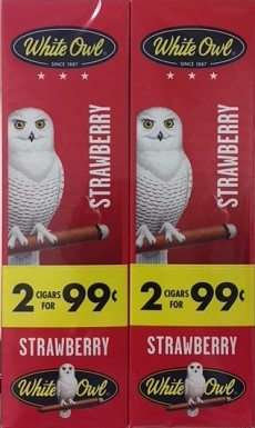 White Owl Cigarillos Foil Fresh Strawberry