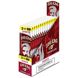 Zig Zag Cigarillos Sweet 15/3 $0.99 Pre-Priced